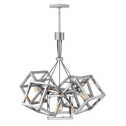 Ensemble Polished Nickel Five-Light Pendant