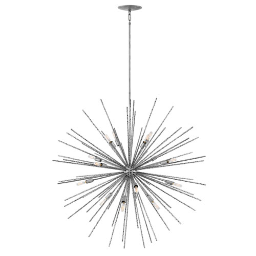 Tryst Burnished Nickel Sixteen-Light Stem Hung Pendant