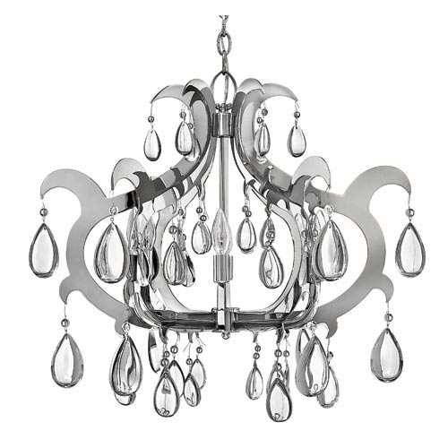 Xanadu Polished Stainless Steel Six-Light Chandelier