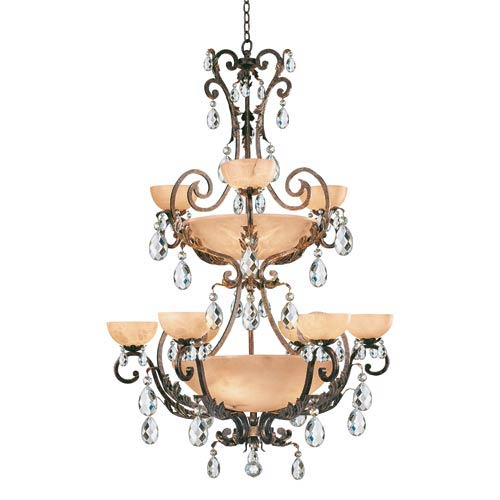 Wrought iron chandeliers natural iron chandeliers bellacor barcelona french marble center bowl chandelier aloadofball Gallery