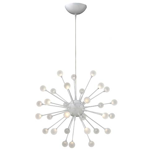 Impulse Cloud LED 30-Light Pendant with Etched Acrylic Glass