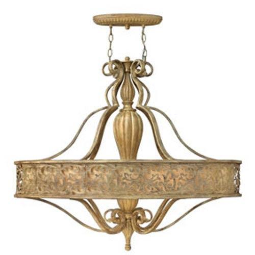 Carabel Brushed Champagne Six-Light Oval Pendant
