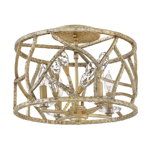 Eve Champagne Gold Semi Flush Mount