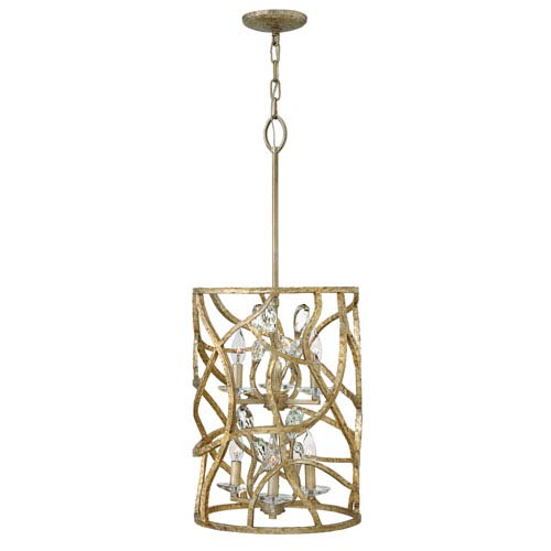 Eve Champagne Gold Six-Light Two Tier Foyer