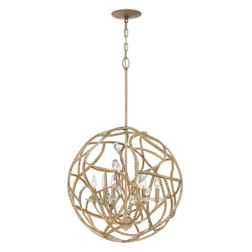 Eve Champagne Gold Six-Light Pendant