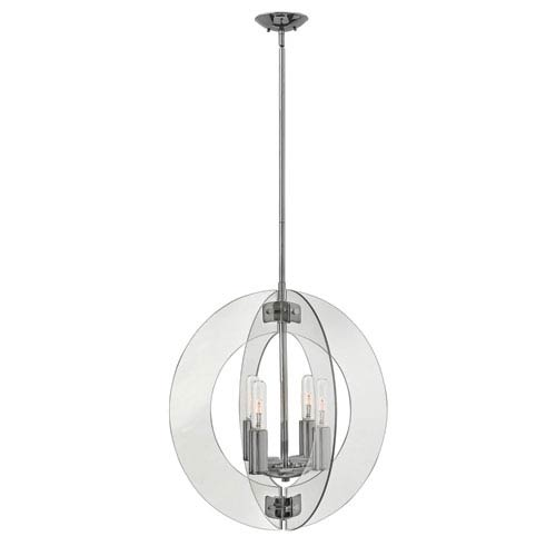 Solstice Polished Chrome 24-Inch Four-Light Chandelier