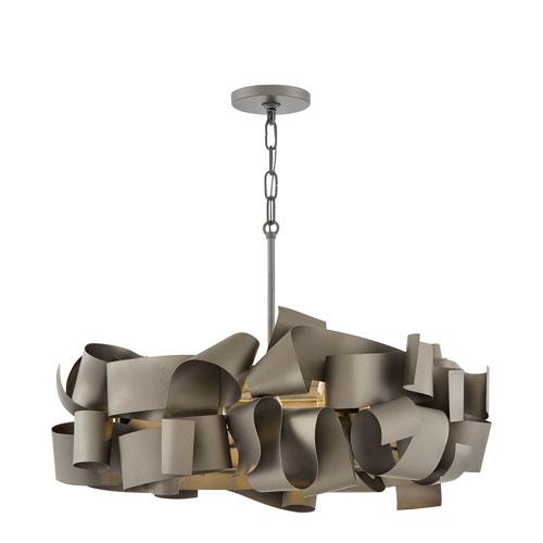 Fredrick Ramond Delfina Metallic Matte Bronze Five-Light Pendant