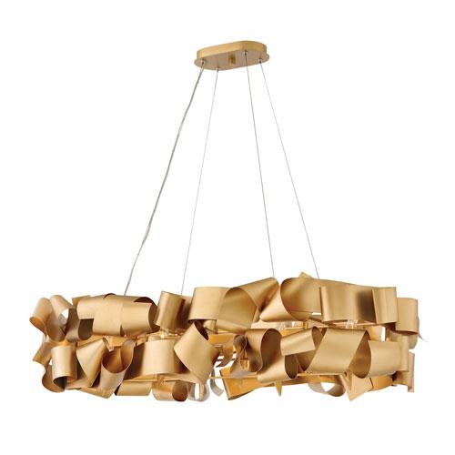 Fredrick Ramond Delfina Deluxe Gold Six-Light Linear Pendant
