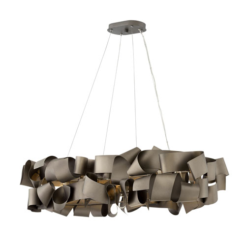 Fredrick Ramond Delfina Metallic Matte Bronze Six-Light Linear Pendant