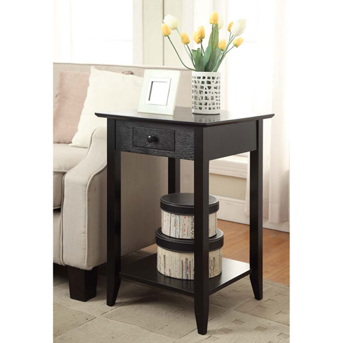 Convenience Concepts American Heritage Black End Table