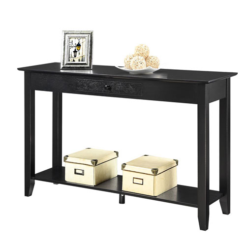 Convenience Concepts American Heritage Black Console Table