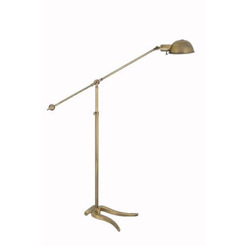 Lyre Base Antique Bronze Floor Lamp