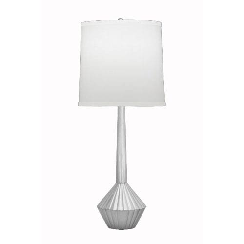 Satin Nickel Table Lamp w/ Cream Linen Shade w/ Cream Linen Trim