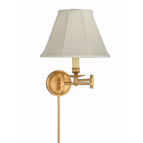 brass antique satin swing arm and plug in lamps free shipping bellacor