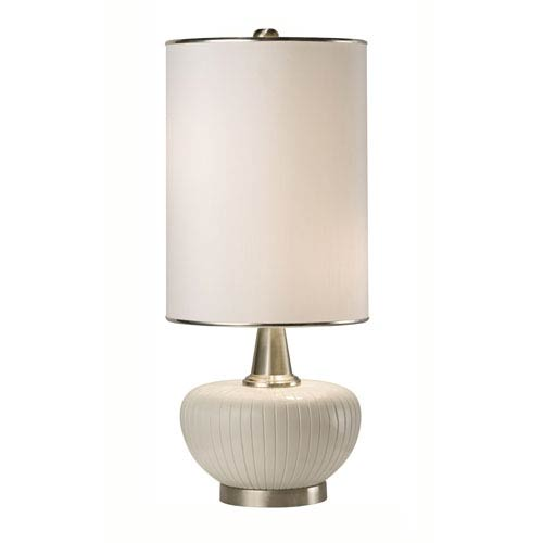 Blanco White Two-Light Table Lamp