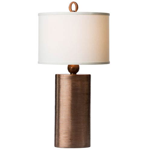 Thumprints Mirage Off White Oval Shade Table Lamp