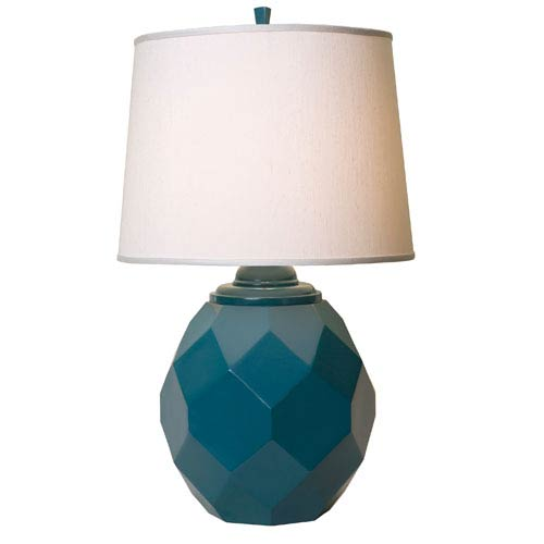 Thumprints Jewel Teal Table Lamp