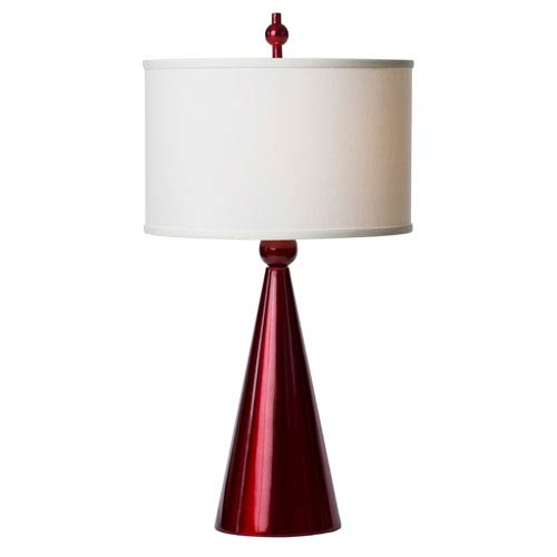 Thumprints Jolly Pop Red Table Lamp