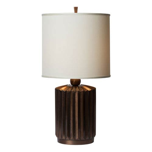 Starburst Brushed Copper Table Lamp