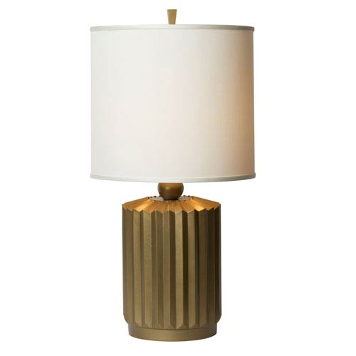 Thumprints Starburst Brushed Gold Table Lamp