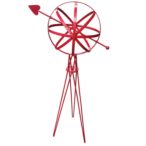Red Sphere with Hairpin Base