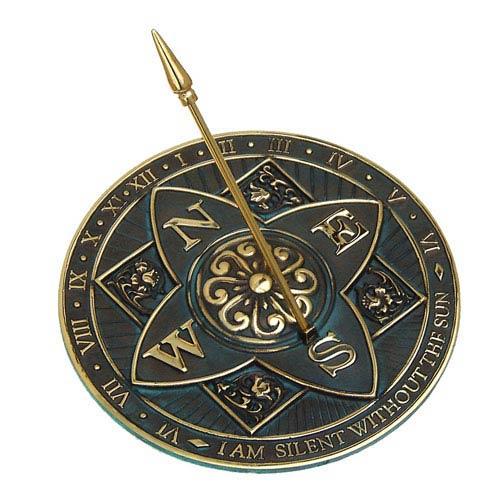 Brass Rosette Sundial