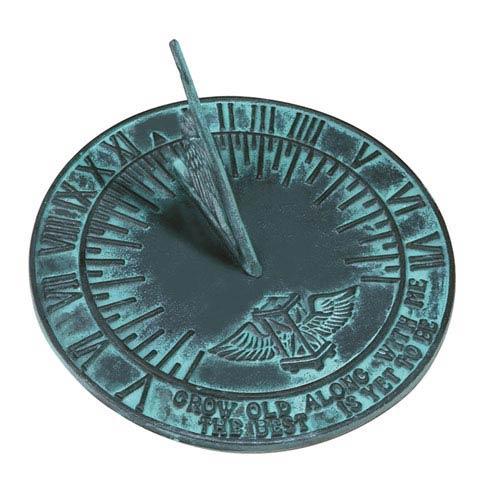 Cast Iron New Salem Sundial Cast Iron with Verdigris