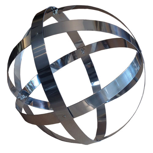 18-Inch Stainless Steel Banded Sphere