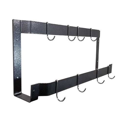 Hammered Steel 31-Inch Offset Double Mounted Wall Rack