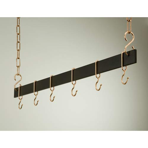 54-Inch Black and Copper Hanging Bar Rack
