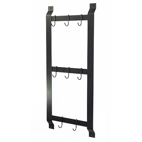 Black 37-Inch Ultimate Wall Mounted Pot Rack