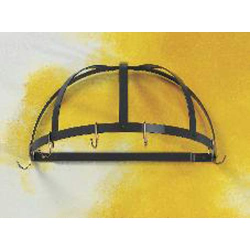 Black with Brass Half Dome Pot Rack