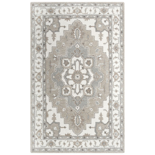 Conley Beige and White Tufted Rug