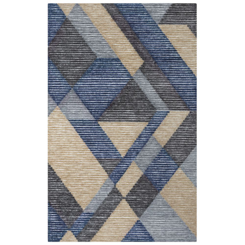 Vista Blue and Gray Indoor/Outdoor Tufted Rug