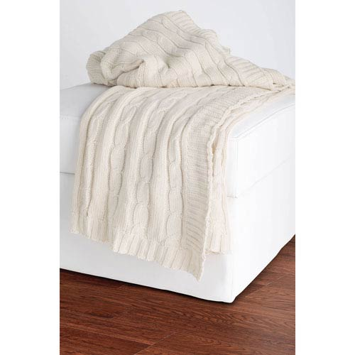 Knit Cream Throw