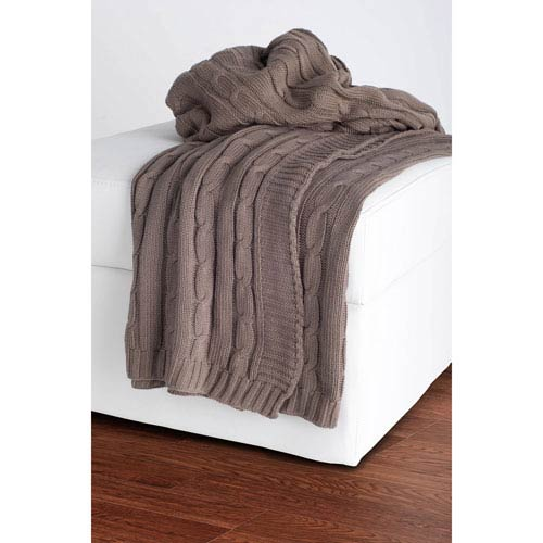 Knit Mocha Throw