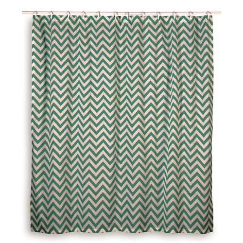 Chevron Teal Shower Curtain