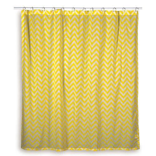 Chevron Yellow Shower Curtain