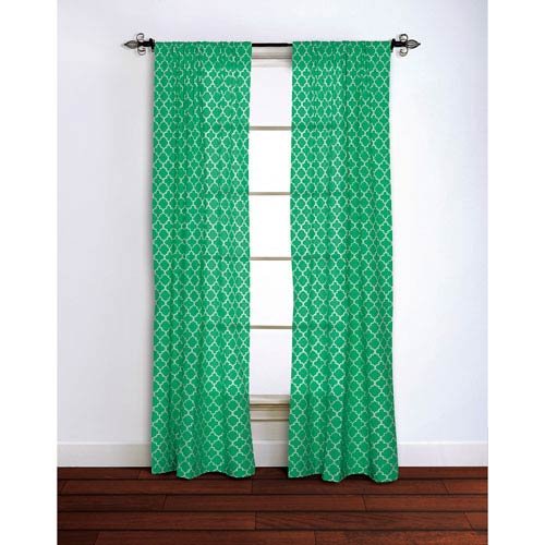 Moroccan Emerald 95 x 42-Inch Curtain Single Panel