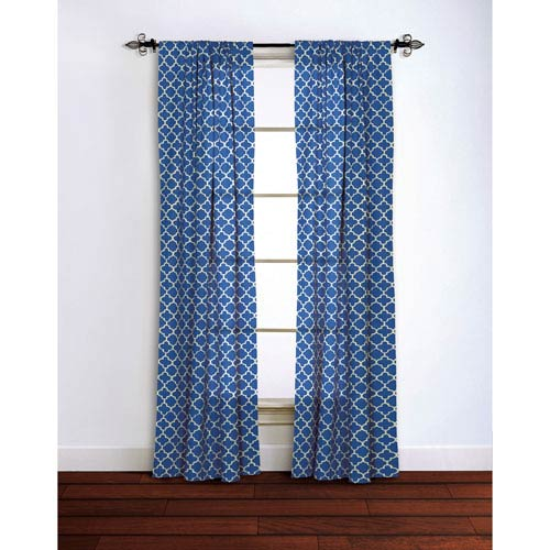 Moroccan Blue 95 x 42-Inch Curtain Single Panel