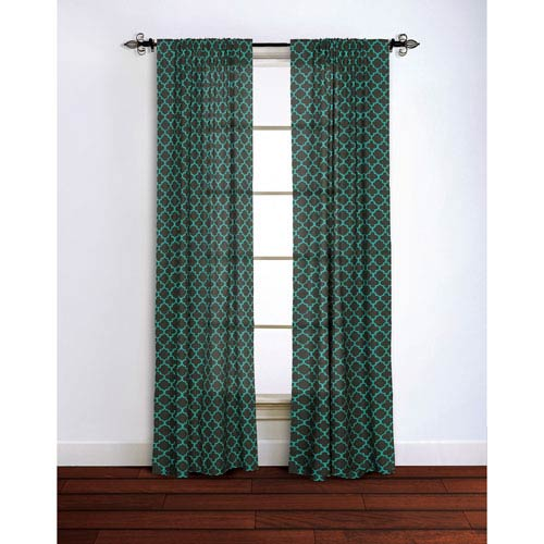 Moroccan Charcoal 95 x 42-Inch Curtain Single Panel