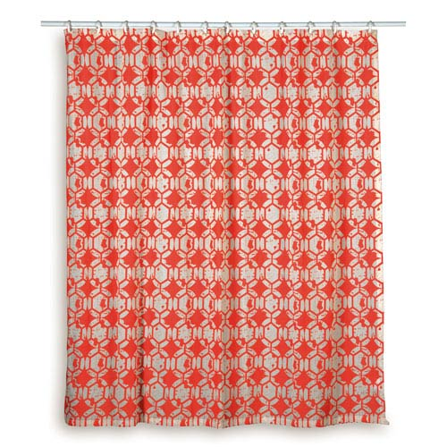Rizzy Rugs Geometric Red Shower Curtain Curg00325re007272 Bellacor