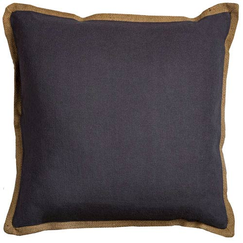 Varsity Charcoal  22-Inch Throw Pillow
