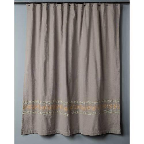 Dark Beige Shower Curtain