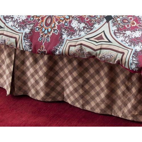 Farmhouse Khaki Queen Bed Skirt