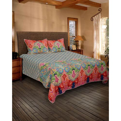 Rhapsodille Blue Queen Quilt