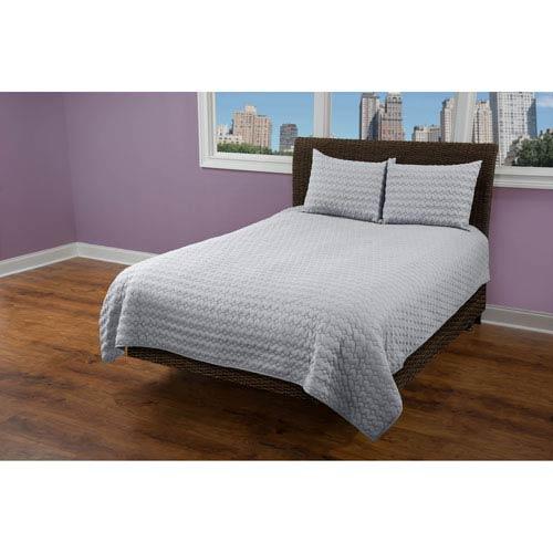Urban Mesh Light Grey Twin Quilt