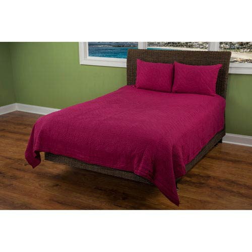 Moroccan Fling Red Twin Quilt