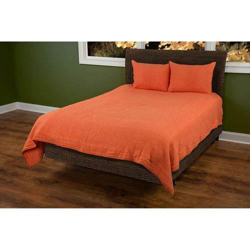 Moroccan Fling Orange Twin Quilt