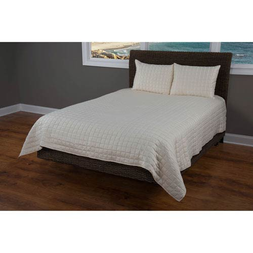 Satinology Cream Two-Piece Twin Quilt Set